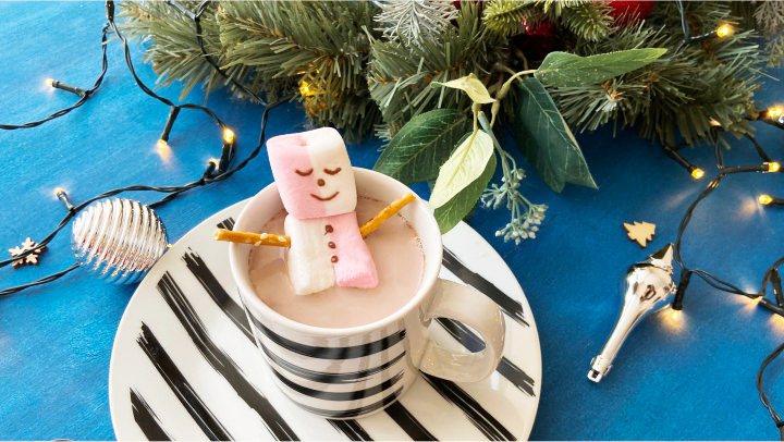 Снеговик из маршмеллоу