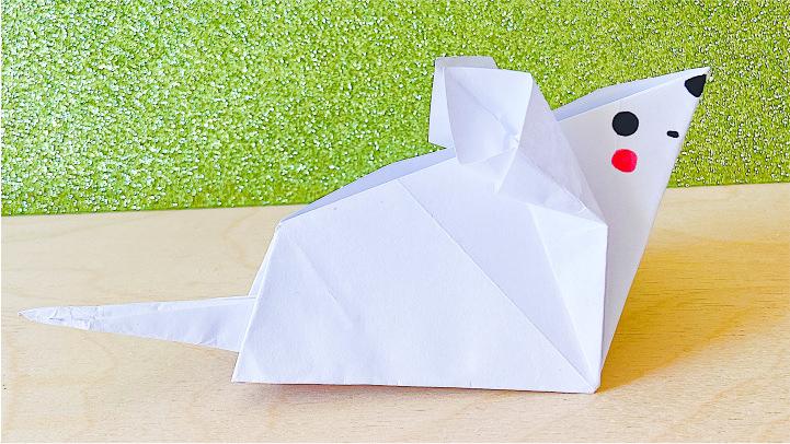 Оригами из бумаги мышка