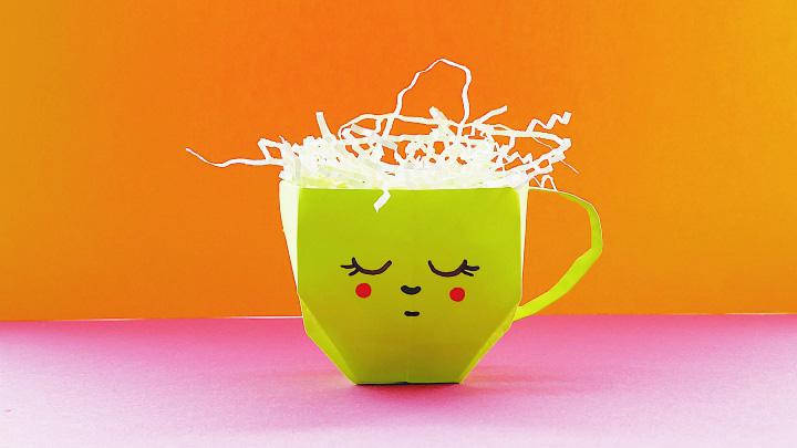 Оригами «Чашка»
