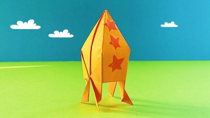 Оригами «Ракета». Летающая ракета из бумаги