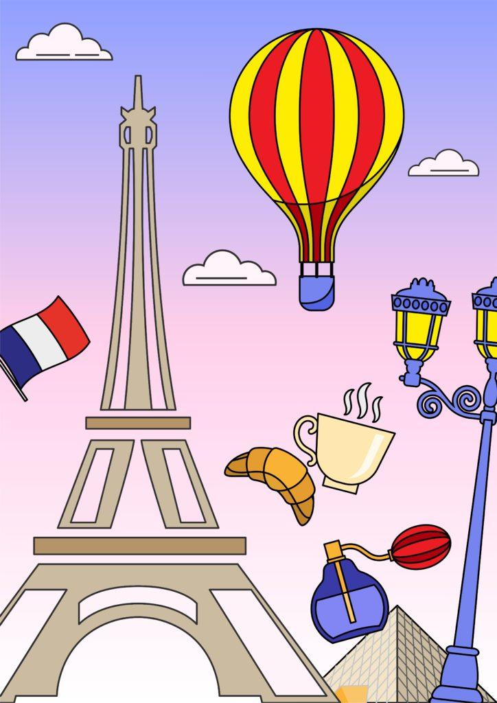 Познавательная раскраска «Франция»