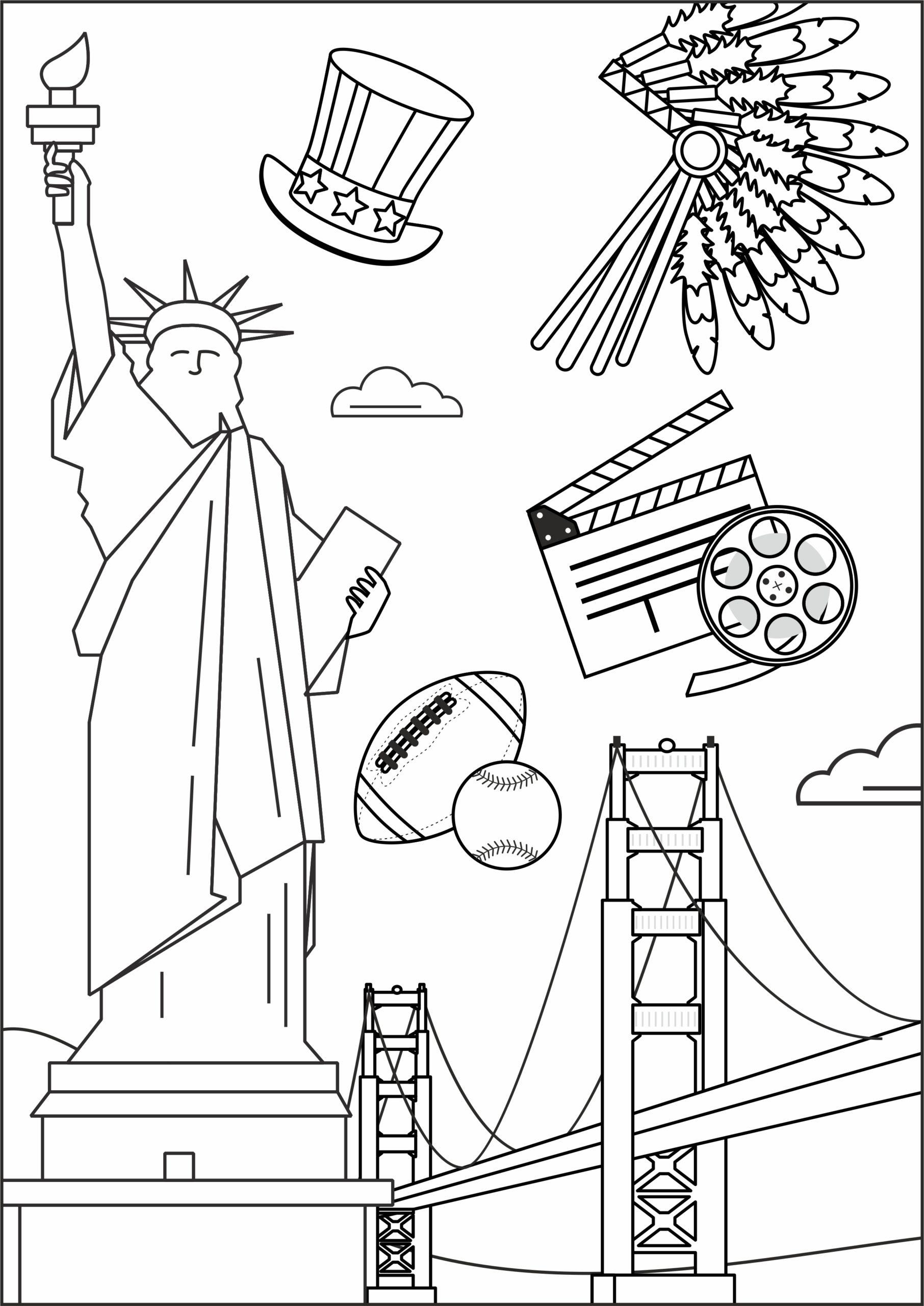 Раскраска «США»