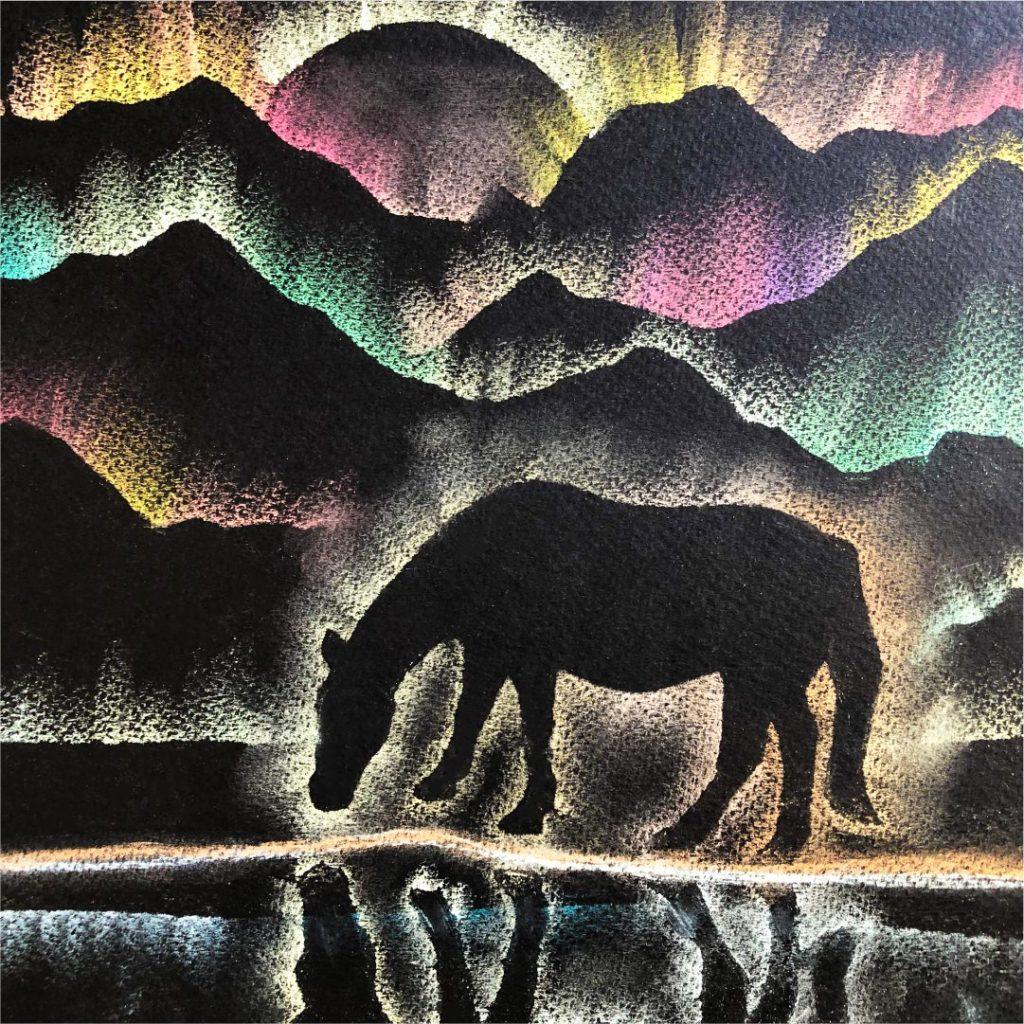 Шаблон «Пейзаж пастелью»