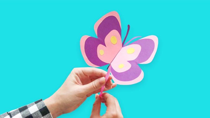 Игрушка «Бабочка» из бумаги