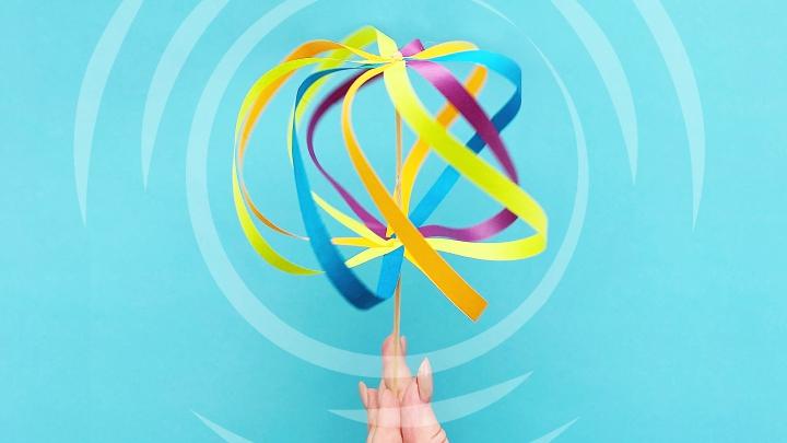 Игрушка «Разноцветный вихрь» / Поделки для детей