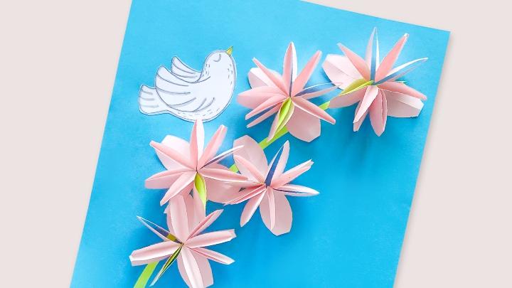 Открытка к 9 мая «Цветы на День Победы»