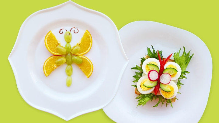 Летний бутерброд и десерт «Бабочки»