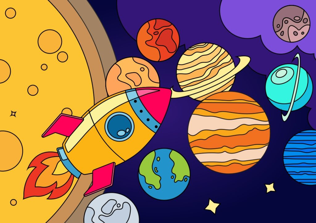 Познавательная раскраска «Солнечная система»