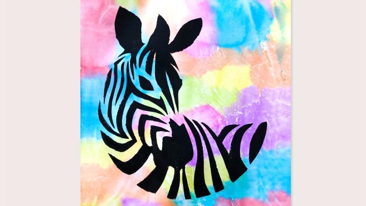 Как нарисовать зебру необычным способом