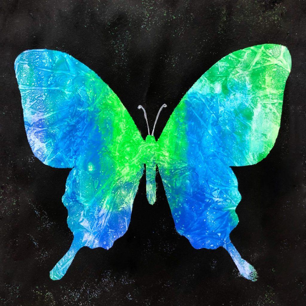 Шаблон «Рисуем бабочку»