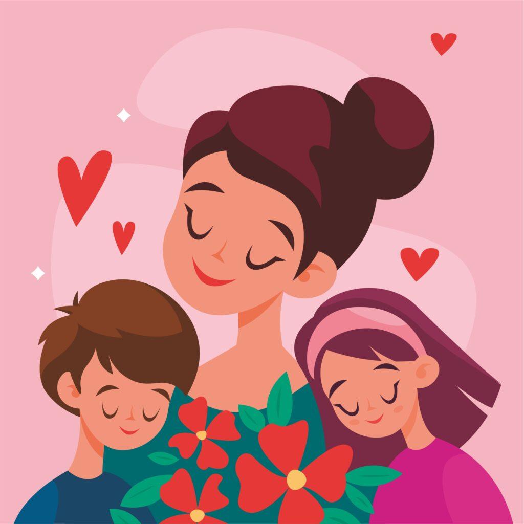 Шаблон «Открытки ко дню матери»