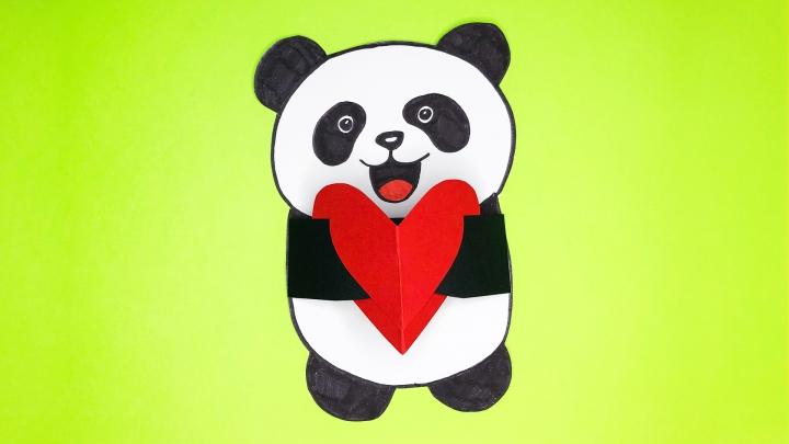 Открытка «Панда»