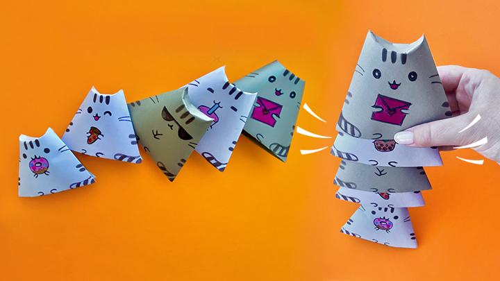 Кот «Пушин» из бумаги
