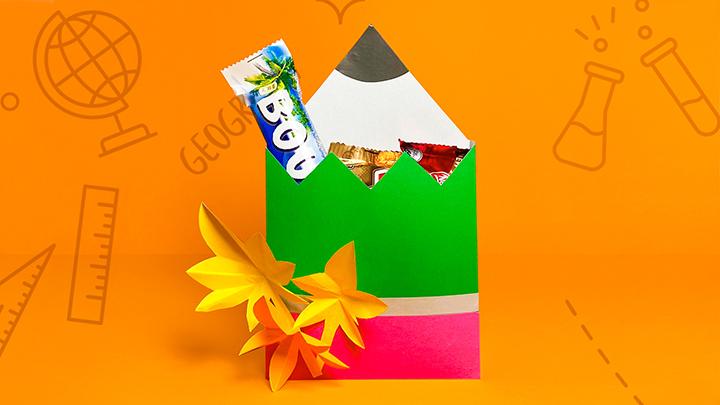 Подарок классному руководителю на 1 сентября «Коробка-карандаш»