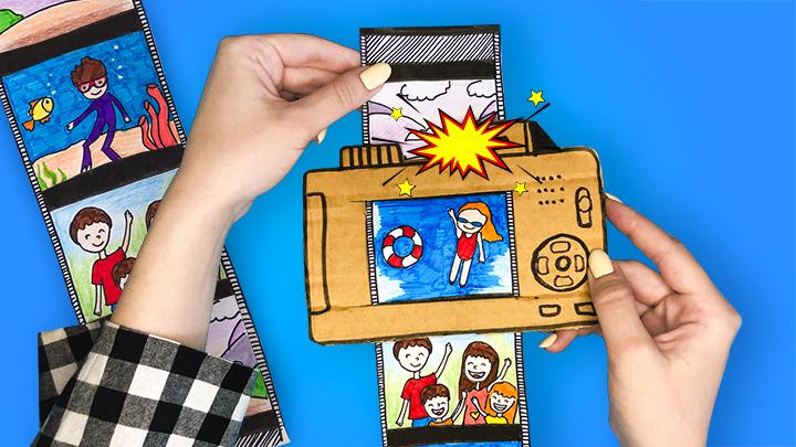 Фотоаппарат из бумаги / Игрушка из бумаги